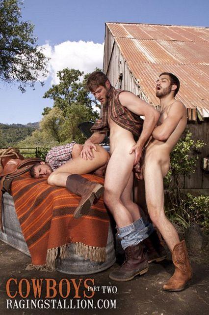 Cowboy Threesome | Daily Dudes @ Dude Dump