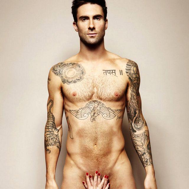 Naked As Adam: Adam Levine   Daily Dudes @ Dude Dump