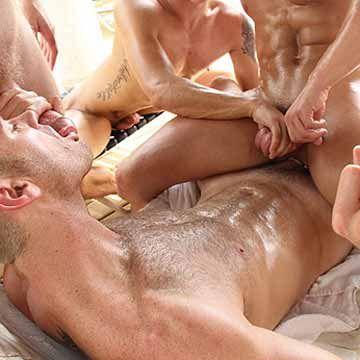 Hot GangBang In A Gay Bath House | Daily Dudes @ Dude Dump