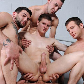 Jizz Orgy   Daily Dudes @ Dude Dump