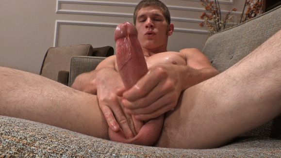 Jerking Off Hung Uncut Cock With Lean Jock Sawyer   Daily Dudes @ Dude Dump