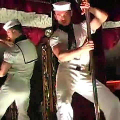 Cum spurting stripper sailor | Daily Dudes @ Dude Dump