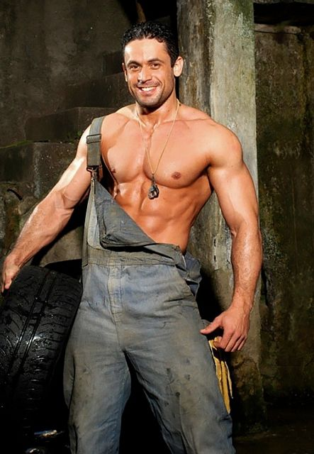 Adrian F – Muscled Mechanic   Daily Dudes @ Dude Dump