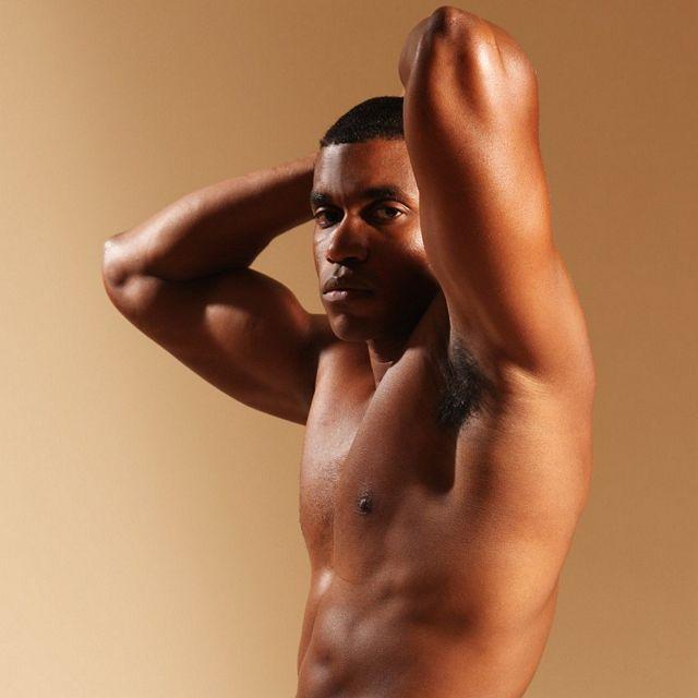 Black Muscleman Beats Off   Daily Dudes @ Dude Dump