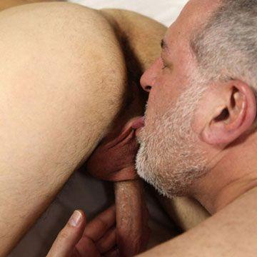Gay bear granpa licks fat cock | Daily Dudes @ Dude Dump