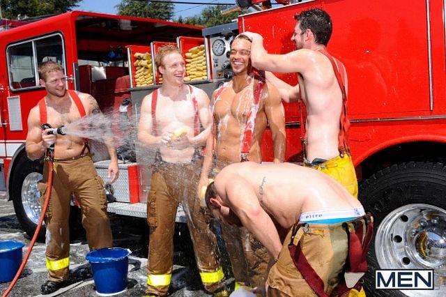 The Gay Firefighter Jizz Orgy | Daily Dudes @ Dude Dump