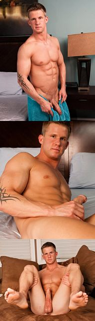 Tom Lansing Is A Horny Jock Stroking His Hard Cock | Daily Dudes @ Dude Dump