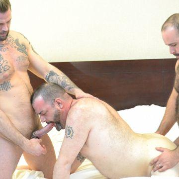 Rick Sierra Gets A Gay Bear Threesome   Daily Dudes @ Dude Dump