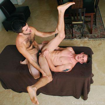 Jock Boy Aaron Gets Fucked Deep By Hairy Boy Josh | Daily Dudes @ Dude Dump