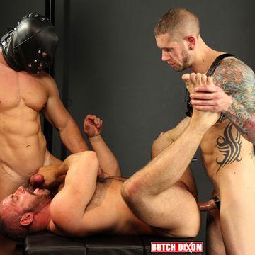 Harley Everett And Mr. X Take On Gay Pig Sam Colt | Daily Dudes @ Dude Dump