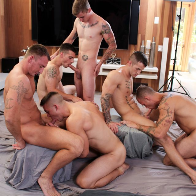 6 Military Men Orgy at Active Duty! | Daily Dudes @ Dude Dump