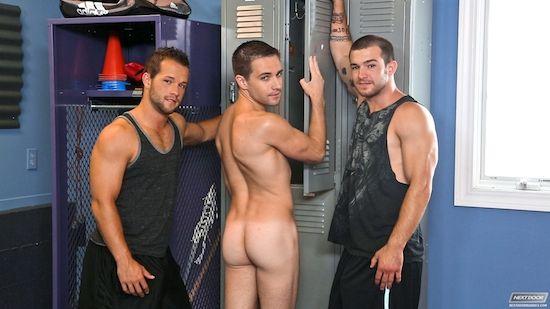 A Locker Room Jock Threesome   Daily Dudes @ Dude Dump