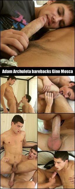 Adam gives his hung and uncut cock to Gino   Daily Dudes @ Dude Dump