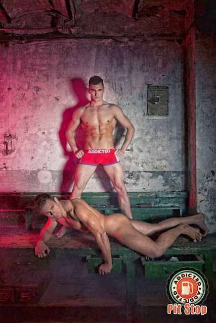 Addicted underwear Pitstop photo shoot   Daily Dudes @ Dude Dump