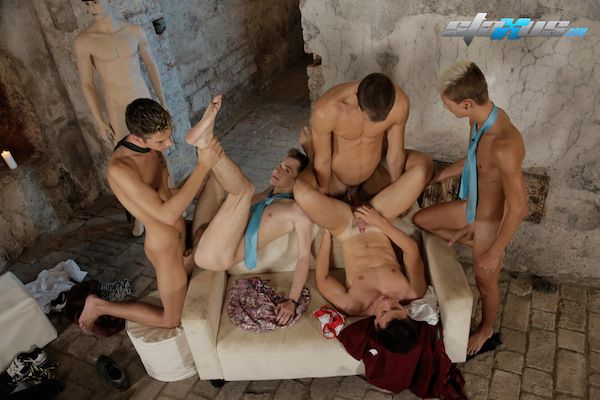 An awesome uncut cock orgy | Daily Dudes @ Dude Dump