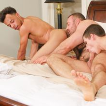 An interracial gay threesome – Daddy's Big Boy 2 | Daily Dudes @ Dude Dump