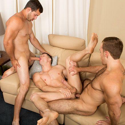 Bareback Threeway with Randy, Dean & Cory   Daily Dudes @ Dude Dump