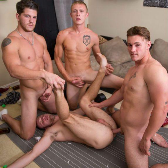 Brandon takes three juicy dicks | Daily Dudes @ Dude Dump