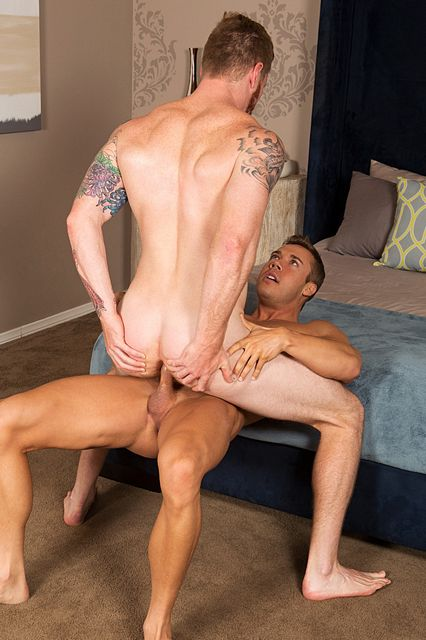 Brody drills David's cock hungry asshole on Sean | Daily Dudes @ Dude Dump