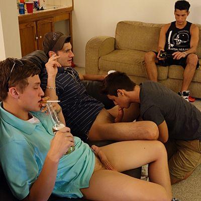Cute Freshman Gets Gangbang Barebacked and Bred | Daily Dudes @ Dude Dump