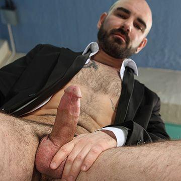 Dildo Fucking Bald Man | Daily Dudes @ Dude Dump