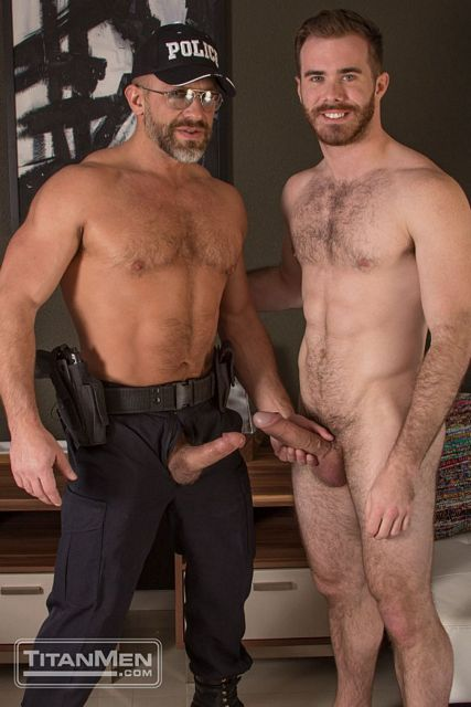 Dirk delivers his hard cop cock into hairy hole   Daily Dudes @ Dude Dump