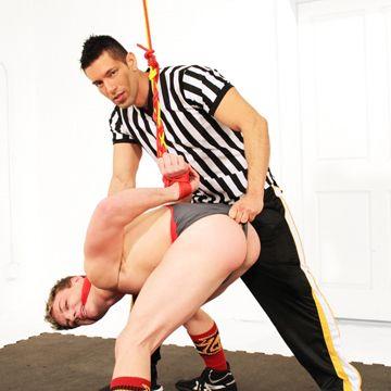 Doug Acre gets a spanking from Alexander Garrett | Daily Dudes @ Dude Dump