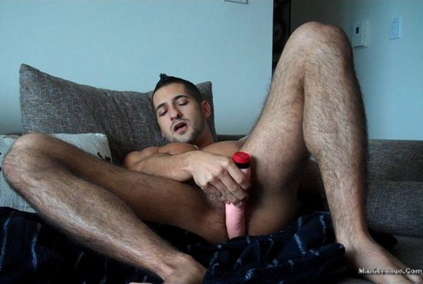 Eddie Cambio Busts a Nut with Dildo Play | Daily Dudes @ Dude Dump