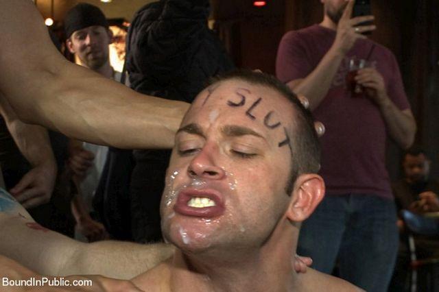 Feisty birthday slut gets abused at a local bar | Daily Dudes @ Dude Dump