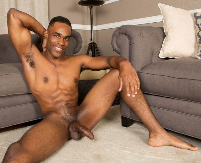 Fine black stud Edison cums like a fountain! | Daily Dudes @ Dude Dump