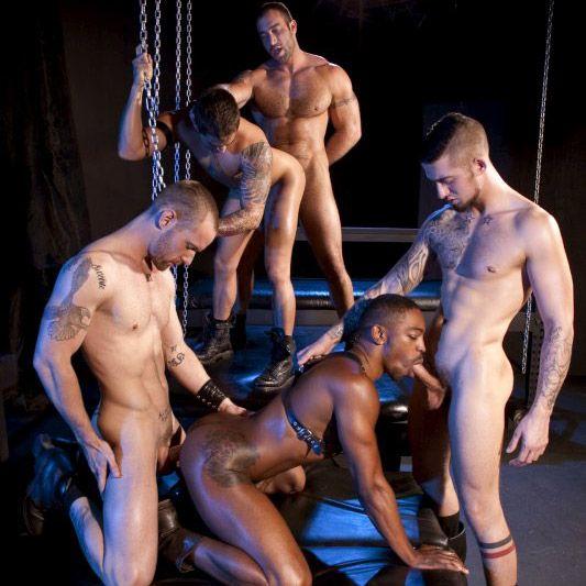 Five man orgy @ Raging Stallion | Daily Dudes @ Dude Dump