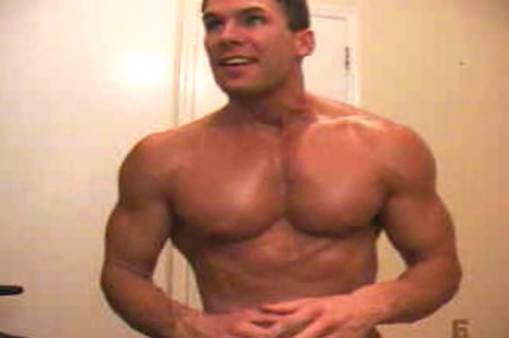 Flexing Muscle On Cam | Daily Dudes @ Dude Dump