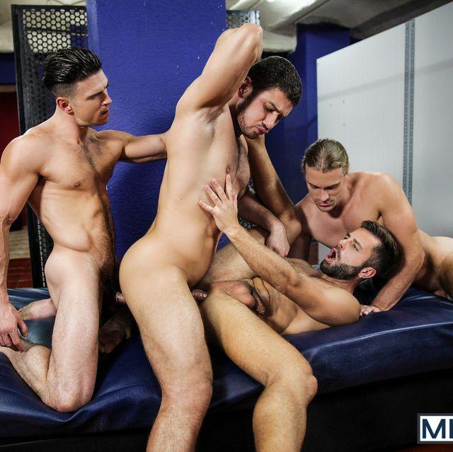 Four Muscular Guys Having Orgy | Daily Dudes @ Dude Dump
