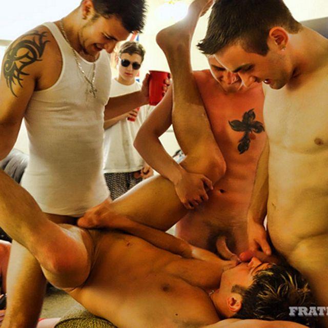 Fraternity's Summer Gangbang! | Daily Dudes @ Dude Dump