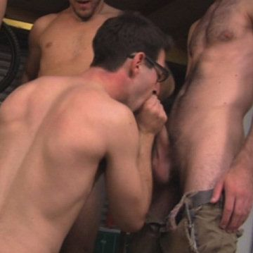 """Garage Bukkake"" | Male-Erotika.com | Daily Dudes @ Dude Dump"