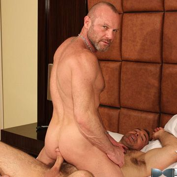 Hairy daddy bareback with Chad Brock & Brad Kalvo | Daily Dudes @ Dude Dump