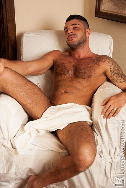 Hairy gay porn star Raul Korso shows off | Daily Dudes @ Dude Dump