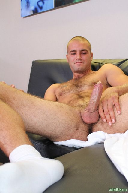 Hairy Guy Sean Jerks Off at ACTIVE DUTY | Daily Dudes @ Dude Dump