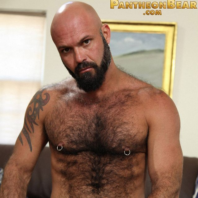 Hairy Hunk Marco Rios jerks off | Daily Dudes @ Dude Dump
