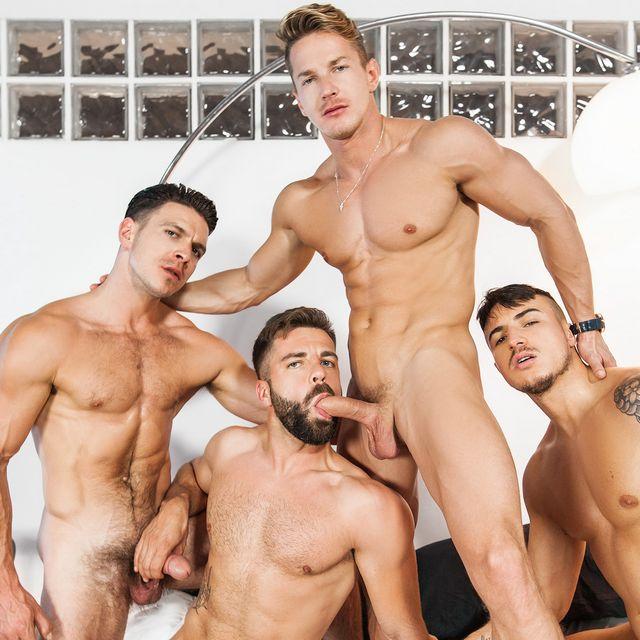 Hot 4-Man Orgy | Daily Dudes @ Dude Dump