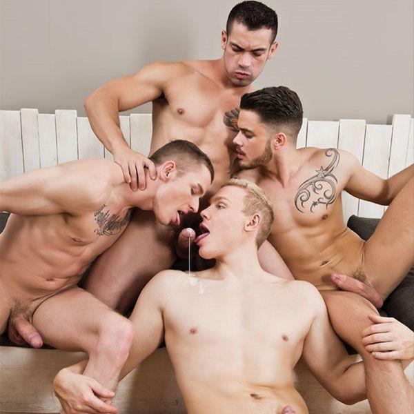 Hot bareback orgy   Daily Dudes @ Dude Dump