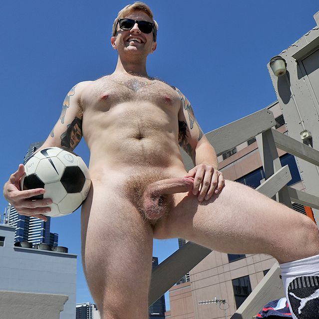 Hot Hairy Guy Luc Dean Gets Naked on the Roof | Daily Dudes @ Dude Dump