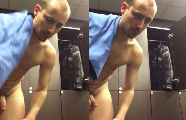 Hot man caught naked in lockerroom | Daily Dudes @ Dude Dump