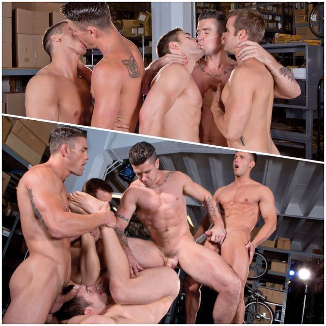 Hot Stud Five-Way Orgy! | Daily Dudes @ Dude Dump