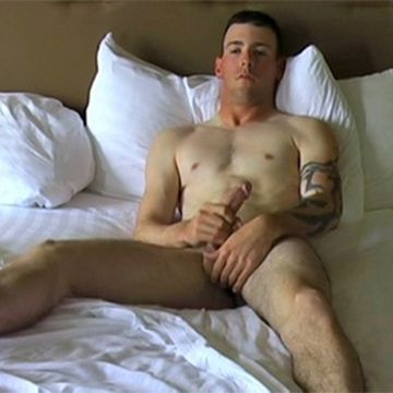 Hot Young Recruit Danny Strokes His Big Dick | Daily Dudes @ Dude Dump