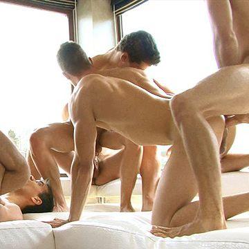 Hungarian Bareback Orgy   Daily Dudes @ Dude Dump