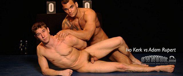 Ivo Kerk and Adam Rupert Oil Up and Wrestle Nude | Daily Dudes @ Dude Dump