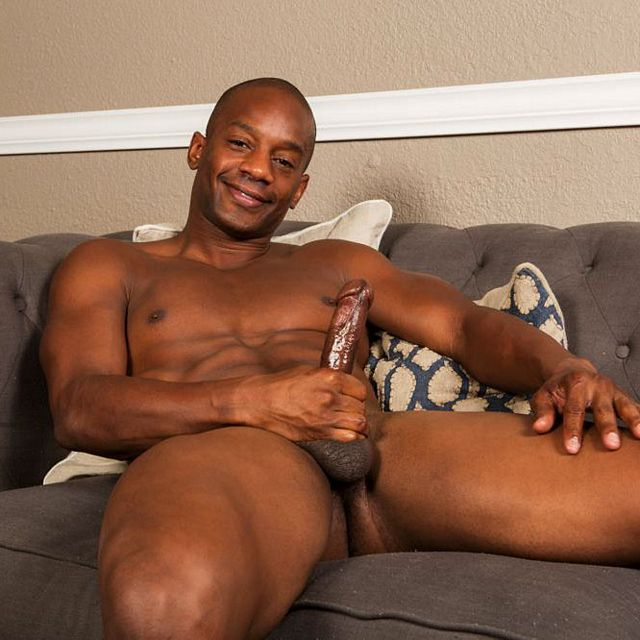 Jermaine strokes his black cock   Daily Dudes @ Dude Dump