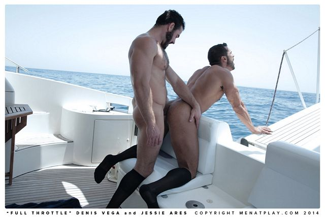 Jessy Ares fucks Denis Vega on a private boat   Daily Dudes @ Dude Dump