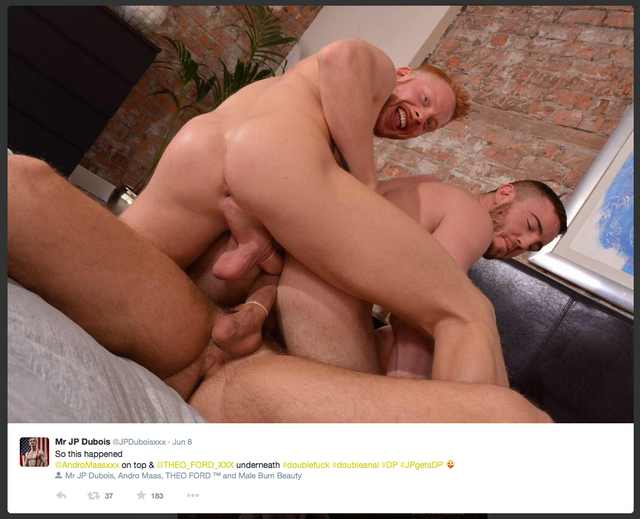 JP Dubois gets two hung uncut cocks in a new gay D | Daily Dudes @ Dude Dump